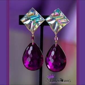 Purple Haven Handcrafted Clip On Earrings